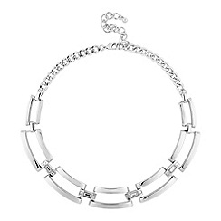 Principles by Ben de Lisi - Designer polished silver crystal link necklace