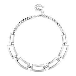 Principles by Ben de Lisi - Designer polished silver crystal link necklace