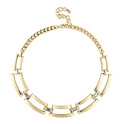 Principles by Ben de Lisi - Designer polished gold crystal link necklace
