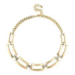 Principles by Ben de Lisi - Designer polished gold crystal link necklace