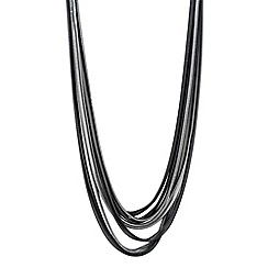 Principles by Ben de Lisi - Designer two tone slinky chain multi row necklace