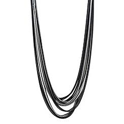 Principles by Ben de Lisi - Designer two tone slinky chain multi row necklace