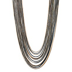 Principles by Ben de Lisi - Designer two tone box chain multi row necklace