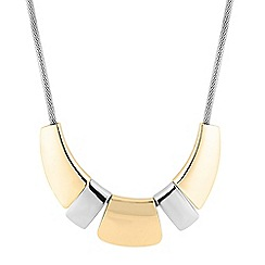 Principles by Ben de Lisi - Designer two tone panelled necklace