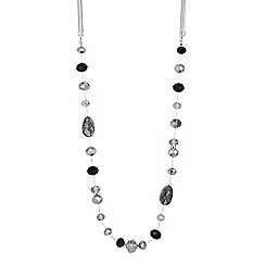 Principles by Ben de Lisi - Designer mixed grey bead long necklace