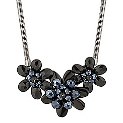 Principles by Ben de Lisi - Designer blue bead 3d flower necklace