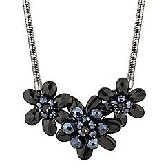 Principles by Ben de Lisi - Designer blue bead 3d flower necklace