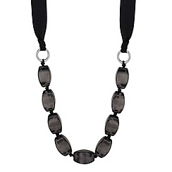 Principles by Ben de Lisi - Designer grey beaded rope chain necklace