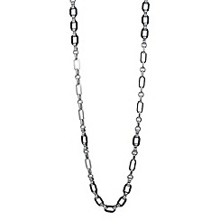 Principles by Ben de Lisi - Designer polished silver and navy link chain necklace