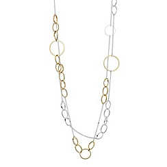 Principles by Ben de Lisi - Designer two tone circular chain necklace
