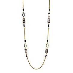 Principles by Ben de Lisi - Designer baguette stone long rope necklace