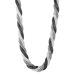 Principles by Ben de Lisi - Designer triple tone twisted mesh necklace