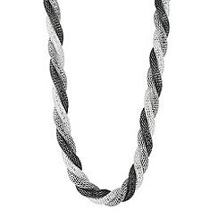 Principles by Ben de Lisi - Designer triple tone twisted mesh necklace