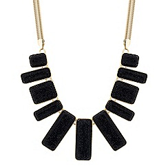 Principles by Ben de Lisi - Designer jet embellished stick drop necklace