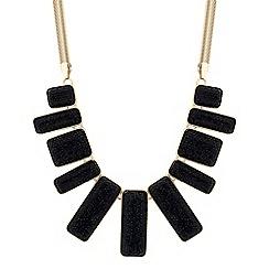 Principles by Ben de Lisi - Designer jet embellished stick drop necklace