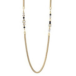 Principles by Ben de Lisi - Designer jet bead and baguette snake chain necklace