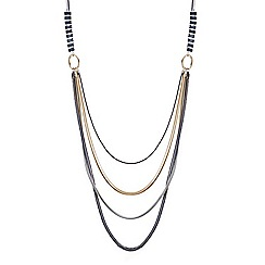 Principles by Ben de Lisi - Designer triple tone multi row long necklace
