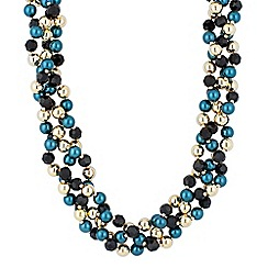 Principles by Ben de Lisi - Designer mixed bead twisted necklace