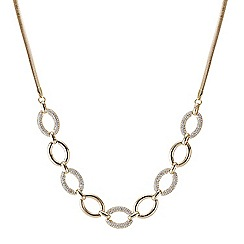 Principles by Ben de Lisi - Designer crystal embellished oval link necklace