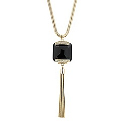 Principles by Ben de Lisi - Designer jet stone tassel drop necklace