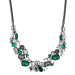 Principles by Ben de Lisi - Designer green cluster stone necklace