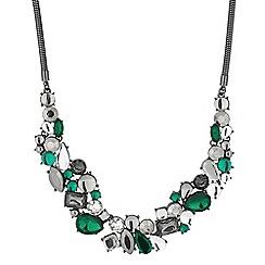 Principles by Ben de Lisi - Designer green cluster stone necklace