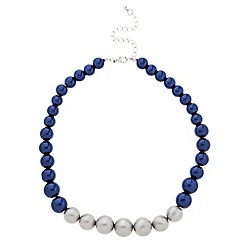 Principles by Ben de Lisi - Designer graduated blue and grey pearl necklace