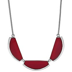 Principles by Ben de Lisi - Designer triple red resin panel necklace