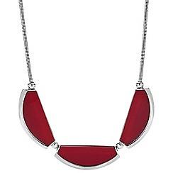 Principles by Ben de Lisi - Designer triple red resin panel necklace