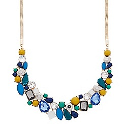 Principles by Ben de Lisi - Designer multicoloured stone cluster necklace