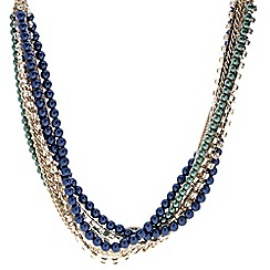 Principles by Ben de Lisi - Designer blue and green pearl twist necklace