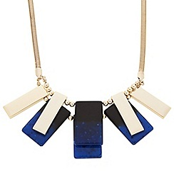 Principles by Ben de Lisi - Designer blue and gold resin stick necklace