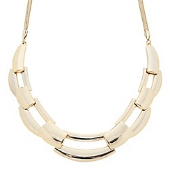 Principles by Ben de Lisi - Designer gold polished linked collar necklace