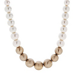 Principles by Ben de Lisi - Designer graduated cream and gold pearl necklace