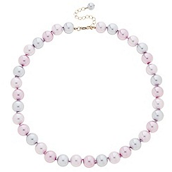 Principles by Ben de Lisi - Designer pink and grey pearl strand necklace