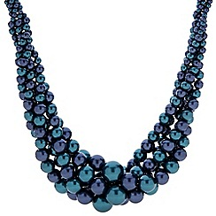 Principles by Ben de Lisi - Designer two tone blue statement pearl necklace
