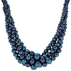 Principles by Ben de Lisi - Designer two tone blue statement pearl necklace