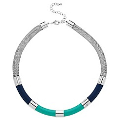 Principles by Ben de Lisi - Designer blue tonal thread wrap necklace