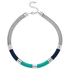 Principles by Ben de Lisi - Designer blue tonal thread wrap necklace