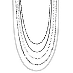 Principles by Ben de Lisi - Designer long mixed chain multi row necklace