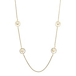 Principles by Ben de Lisi - Designer pearl encased ring link necklace