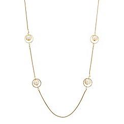 Principles by Ben de Lisi - Designer pearl encased ring link necklace