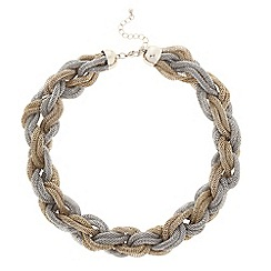 Principles by Ben de Lisi - Designer two tone twisted mesh necklace