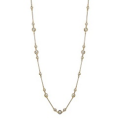 Principles by Ben de Lisi - Designer pearl and gold stick link necklace