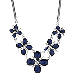 Principles by Ben de Lisi - Designer blue teardrop flower necklace