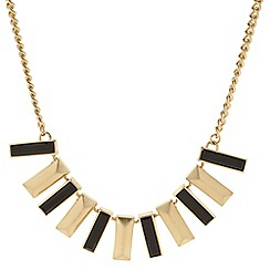 Principles by Ben de Lisi - Designer polished gold and jet stick drop necklace