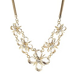 Principles by Ben de Lisi - Designer gold teardrop flower necklace