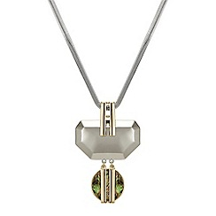 Principles by Ben de Lisi - Designer abalone inspired angular drop necklace