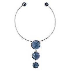 Principles by Ben de Lisi - Marble stone torque necklace