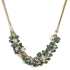 Principles by Ben de Lisi - Designer green beaded stick cluster necklace